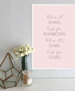 Rainbows and Stars | A3 Poster