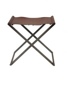 Folding Stool Leather | Pre Order