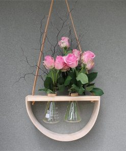 Double 1/2 Moon Wood Vase | Conical Vases