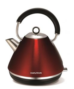 Morphy Richards Traditional Pyramid Kettle | Metallic Red