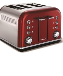 Morphy Richards Accents 4 Slice Toaster | Metallic Red