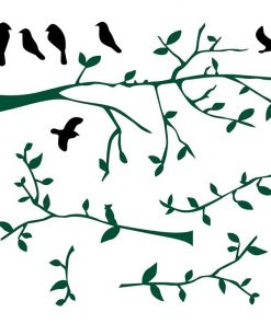 Branch with Birds Wall Decal