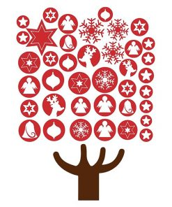 Baubles Christmas Tree Wall Decal