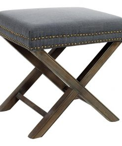 Andie Charcoal Ottoman