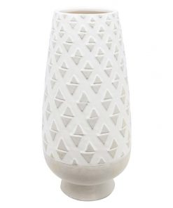 Concrete White Wash Vase