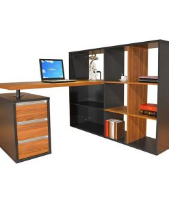 Lennon Office Desk with Display Cabinet