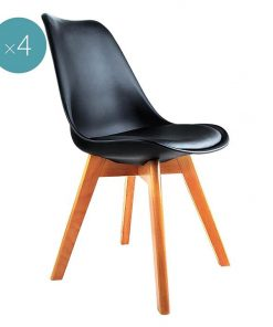 Replica Charles & Ray Eames PU Leather Dining Chair
