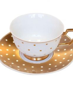 Kelly Polka Dot Teacup & Saucer Set