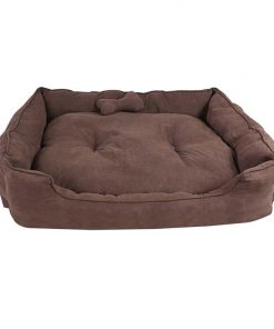 Huey Faux Suede Dog Bed