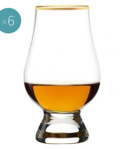 Whisky Glass with Gold Rim