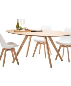 Carol 7-Piece Replica Charles & Ray Eames Padded Dining Set