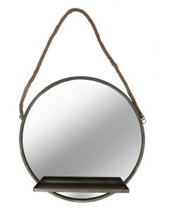 Tamir Wall Mirror with Shelf