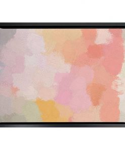 Peachy Keen Framed Canvas Print