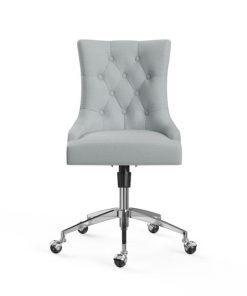 Espen Office Chair Silver Porcelain Blue