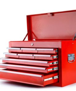 Red 9 Drawer Tool Box Cabinet