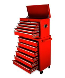 Red 15 Drawer Tool Box Cabinet