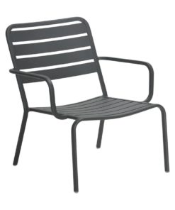 Vespa Outdoor Charcoal Metal Low Armchair by Interior Secrets - Pay with zipMoney