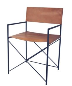 Botswana Leather Directors Chair - Tan by Interior Secrets - Pay with zipMoney