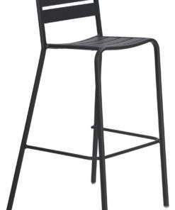 Vespa Outdoor Charcoal Metal Bar Stool by Interior Secrets - Pay with zipMoney