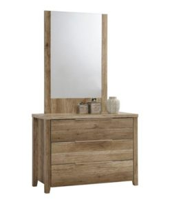 Alice 3 Drawer Timber Chest With Mirror - Natural by Interior Secrets - Pay with zipMoney