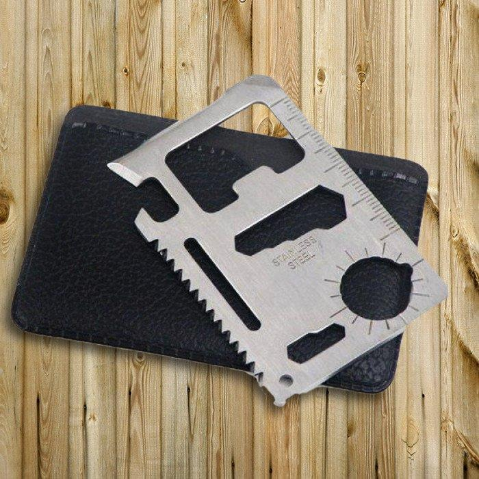 10-in-1 Stainless Steel Multi-Tool Card