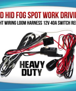 Wiring Loom Harness for LED HID FOG Spot Work Driving light 12V 40A Switch Relay