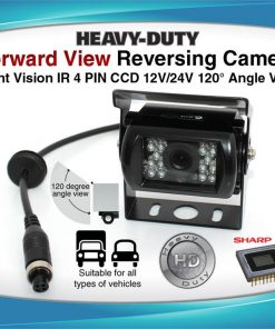 4PIN Heavy Duty 12/ 24V CCD IR Colour Reverse Reversing Camera Forward view 120 degree