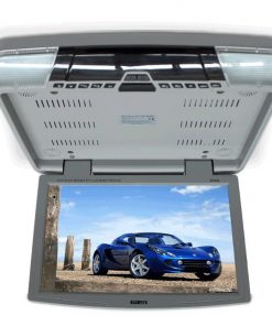 """15.6"""" DVD player Roof mount In Car Flip Down Monitor HDMI suit 12V/24V vehicle GREY"""