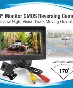"""4.3"""" Monitor CMOS Reversing Camera Rearview Night Vision Track Moving Guidelines"""