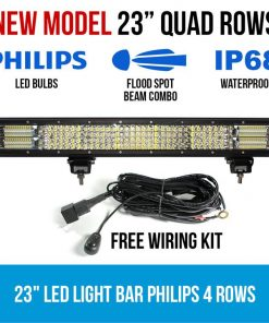 """23"""" LED Light Bar 4 Rows Philips Work Driving FLOOD SPOT COMBO IP68 Offroad 4WD"""