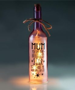 """Mum You`re the Brightest Star"" LED Wishing Bottle"