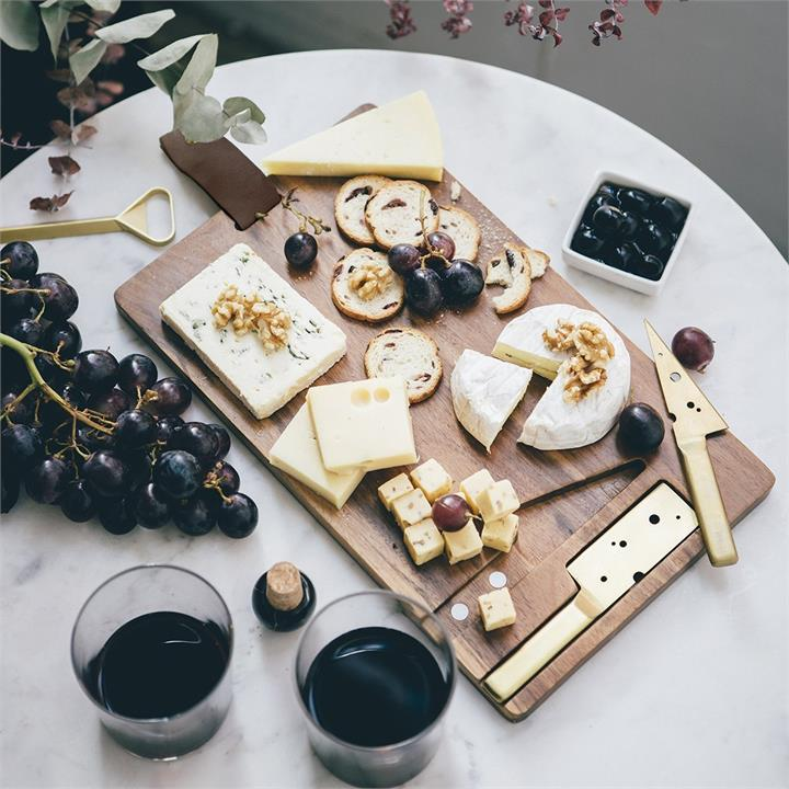 Cheeseporn Cheese Board & Knife Set