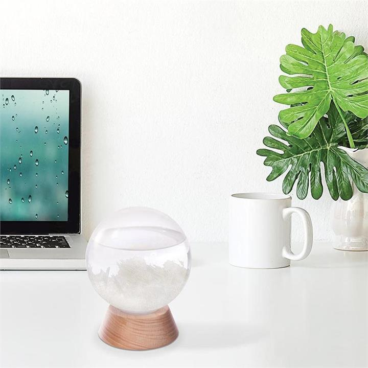 Crystal Ball Storm Glass Weather Station   Predict the Weather!