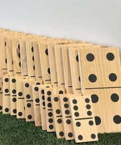 Giant Wooden Dominoes 28pc Party Games
