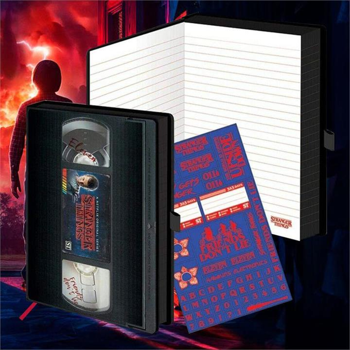 Stranger Things Retro VHS Video Tape A5 Notebook