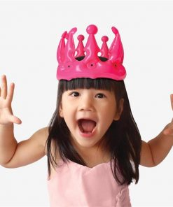 Pink Novelty Inflatable Party Princess Crown For Kids