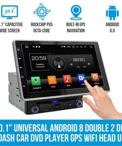 "10.1"" In Dash Car DVD Player Universal Android 8 Double 2 DIN Stereo GPS WiFi BT Head Unit"