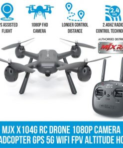 MJX X104G RC Drone 1080P Camera Quadcopter GPS 5G Wifi FPV Headless Altitude Hold