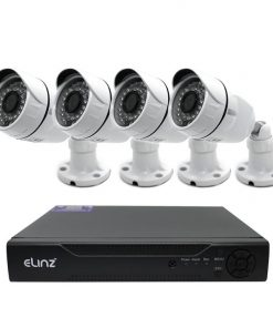 CCTV Security 4x Camera System 4CH DVR 1080P 5MP AHD Face Detection Video