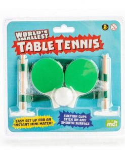 Fun Novelty World`s Smallest Table Tennis Set With Bats and Ball