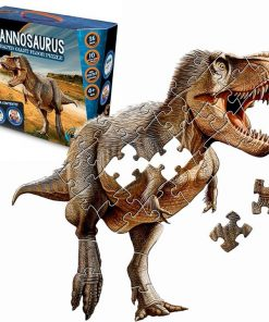 Tyrannosaurus Rex Shaped Giant Floor Puzzle & Free Poster
