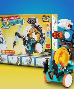 5 in 1 Mechanical Coding Robot Kids STEM Learning Toy