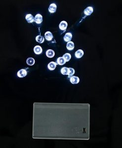 20 Cool White LED Battery Light - 2.4m