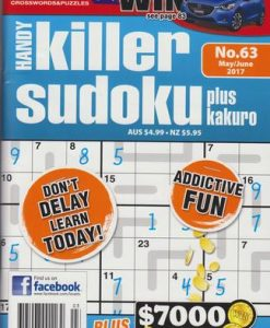 Lovatts Handy Killer Sudoku Magazine 12 Month Subscription
