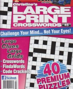 Large Print Crosswords Magazine 12 Month Subscription