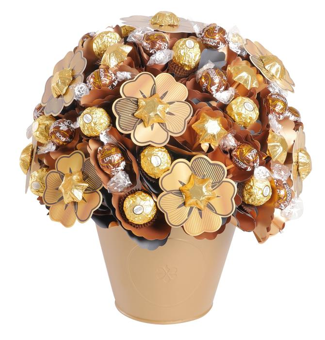 Golden Luxury Chocolate Bouquet