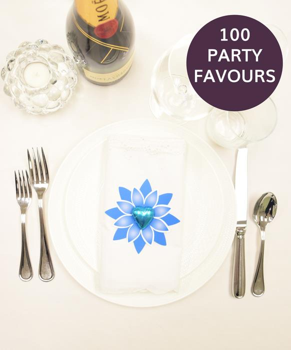 100 Blue Star Party Favours