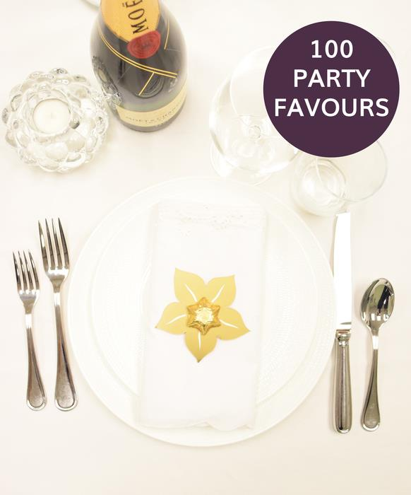 100 Gold Star Party Favours