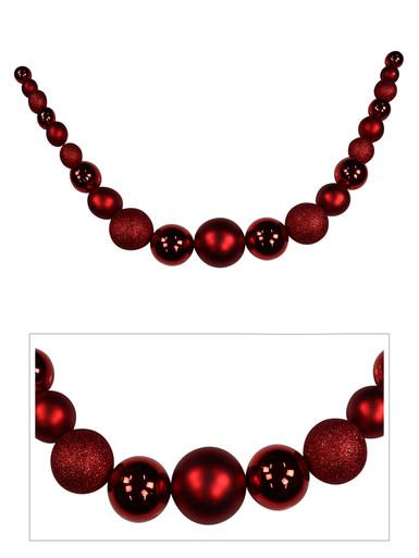 Large Red Bauble Swag Garland - 1.87m