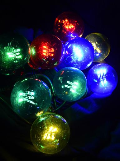 10 Multi Coloured G60 Festoon Party Lights With 50 Multi Colour LED's - 5m